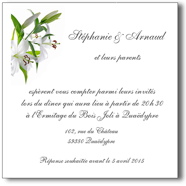 modele carte de mariage invitation meilleur blog de photos de mariage pour vous. Black Bedroom Furniture Sets. Home Design Ideas