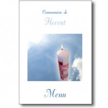menu de communion le cierge