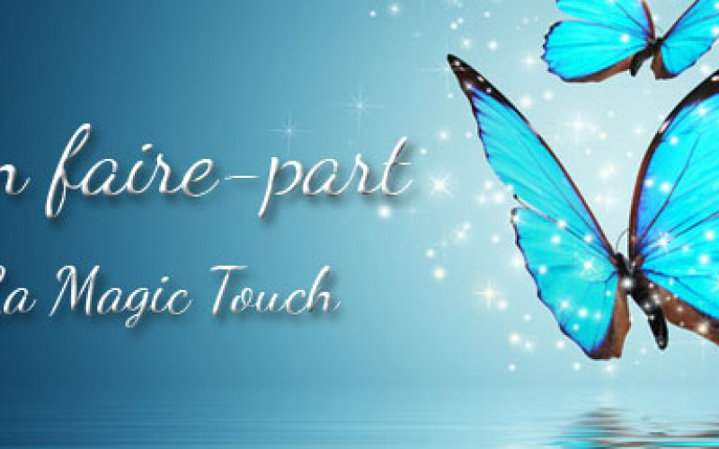 lutin faire part, la magic touch