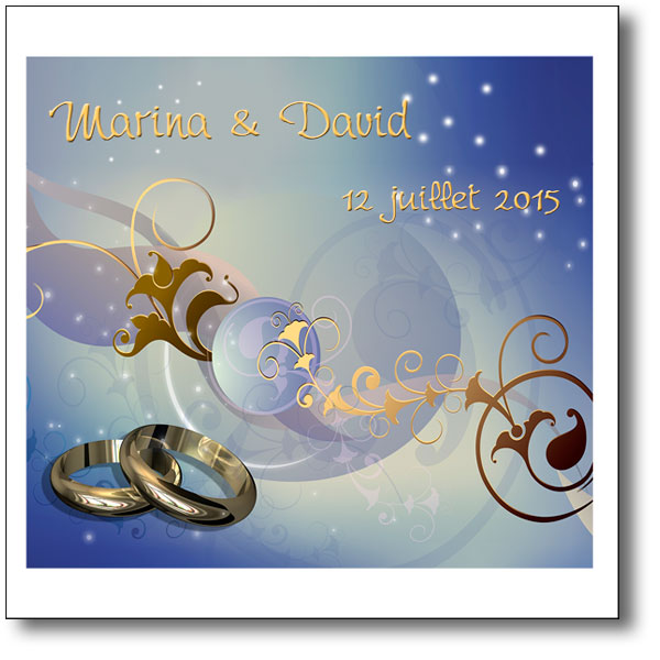 faire part de mariage alliances or