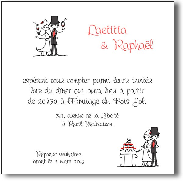 carte d 39 invitation histoire d 39 un mariage sur le th me bande dessin e. Black Bedroom Furniture Sets. Home Design Ideas