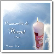 faire-part de communion, le cierge